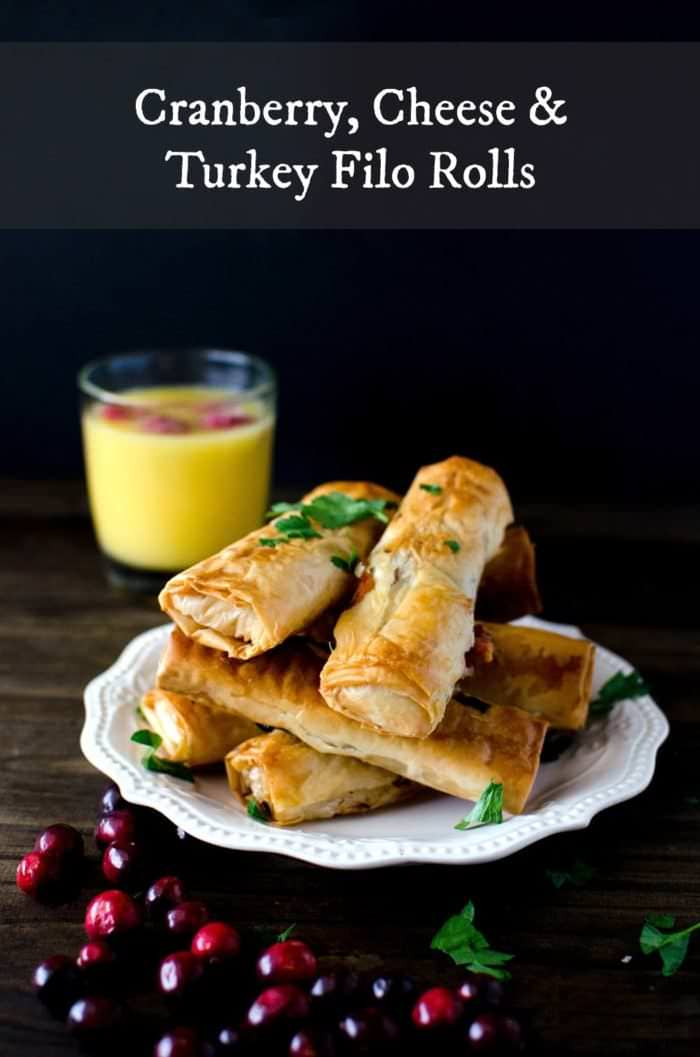 Featured Image - Cranberry ,Cheese Turkey Filo Rolls