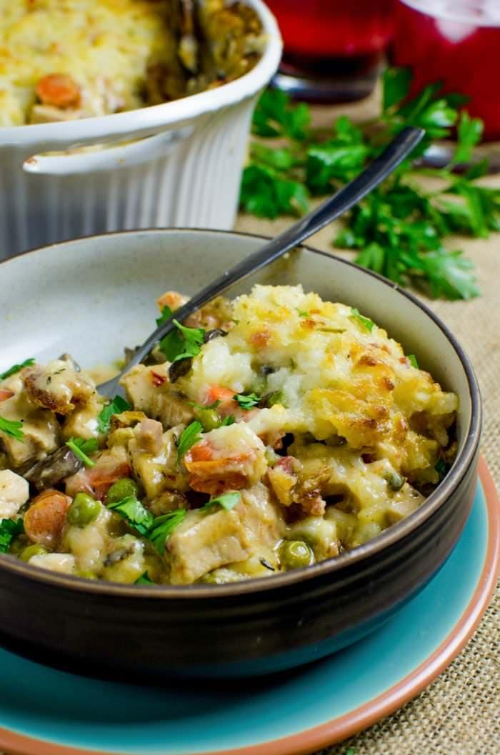 Creamy Turkey Shepherd's Pot Pie with Bacon (Thanksgiving leftover ...