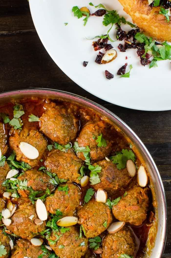 Persian Carrot and Beef Meatballs - A delicious and easy Persian kofta recipe packed with flavor! Sweetness from carrots and wonderful spices, this is a fragrant and flavorful Persian classic. Plus a cookbook review for The Enchantingly Easy Persian Cookbook