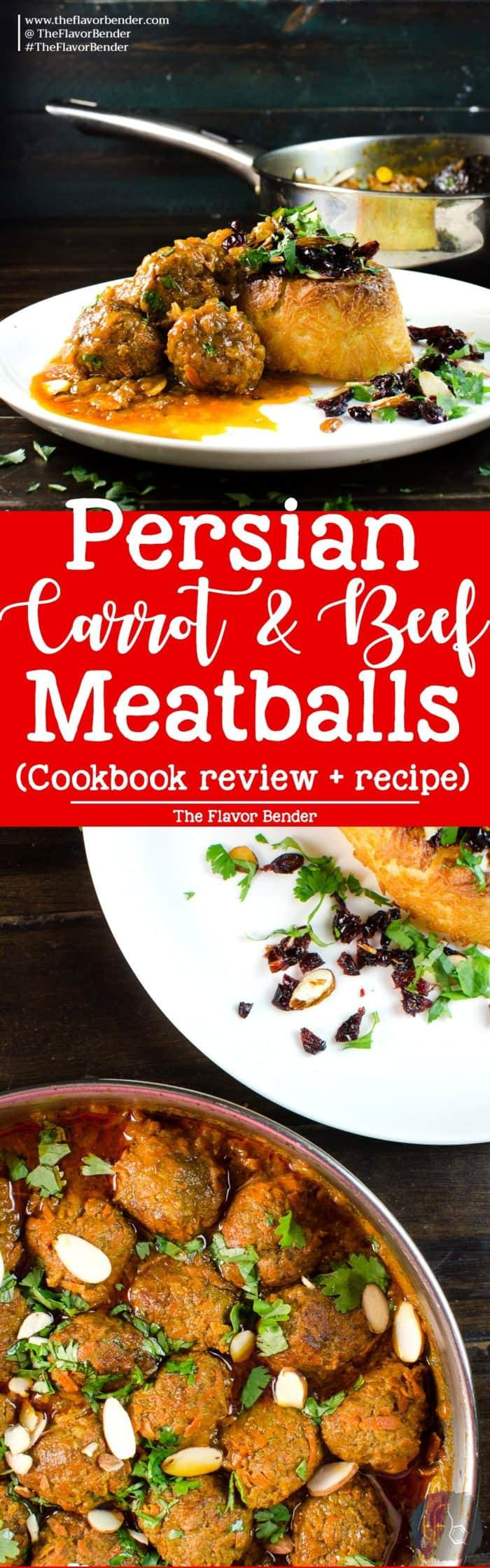 Persian Carrot and Beef Meatball recipe - A delicious and easy Persian kofta recipe packed with flavor! Sweetness from carrots and wonderful spices, this is a fragrant and flavorful Persian classic. Plus a cookbook review for The Enchantingly Easy Persian Cookbook