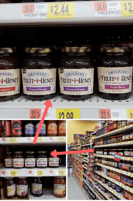 Where to find Smuckers Fruit and Honey fruit spread