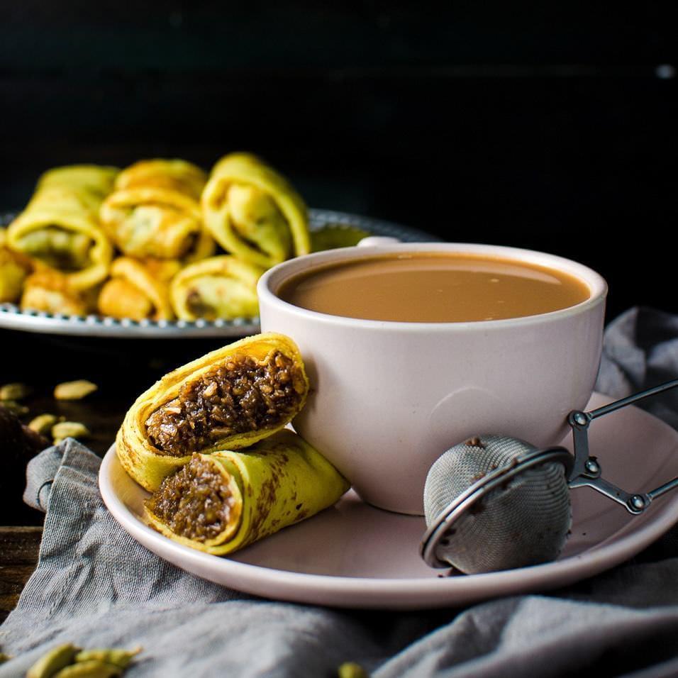Sweet Coconut Stuffed Crepes