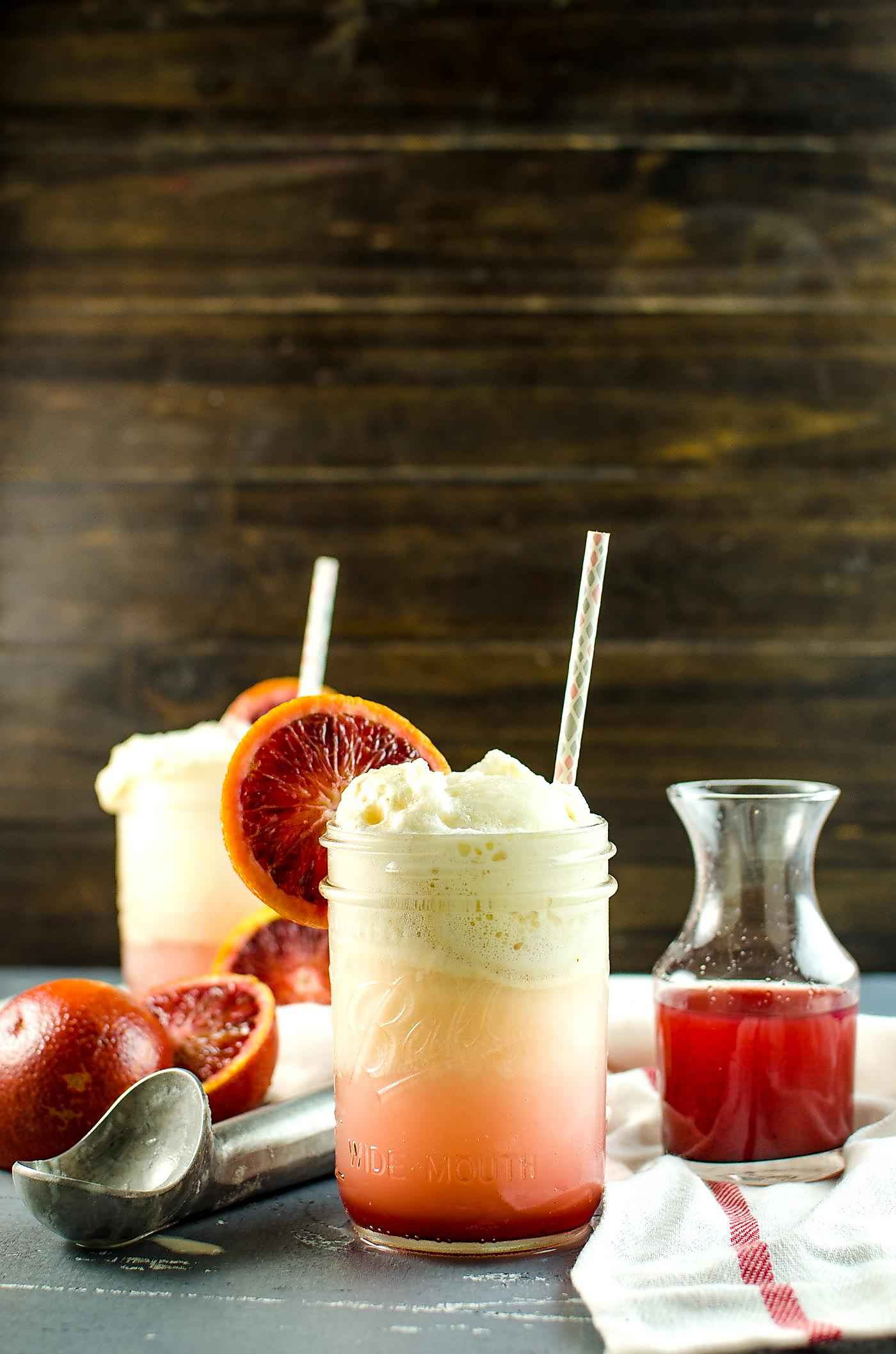, sweet & refreshing – this Blood Orange Creamsicle Soda Float ...