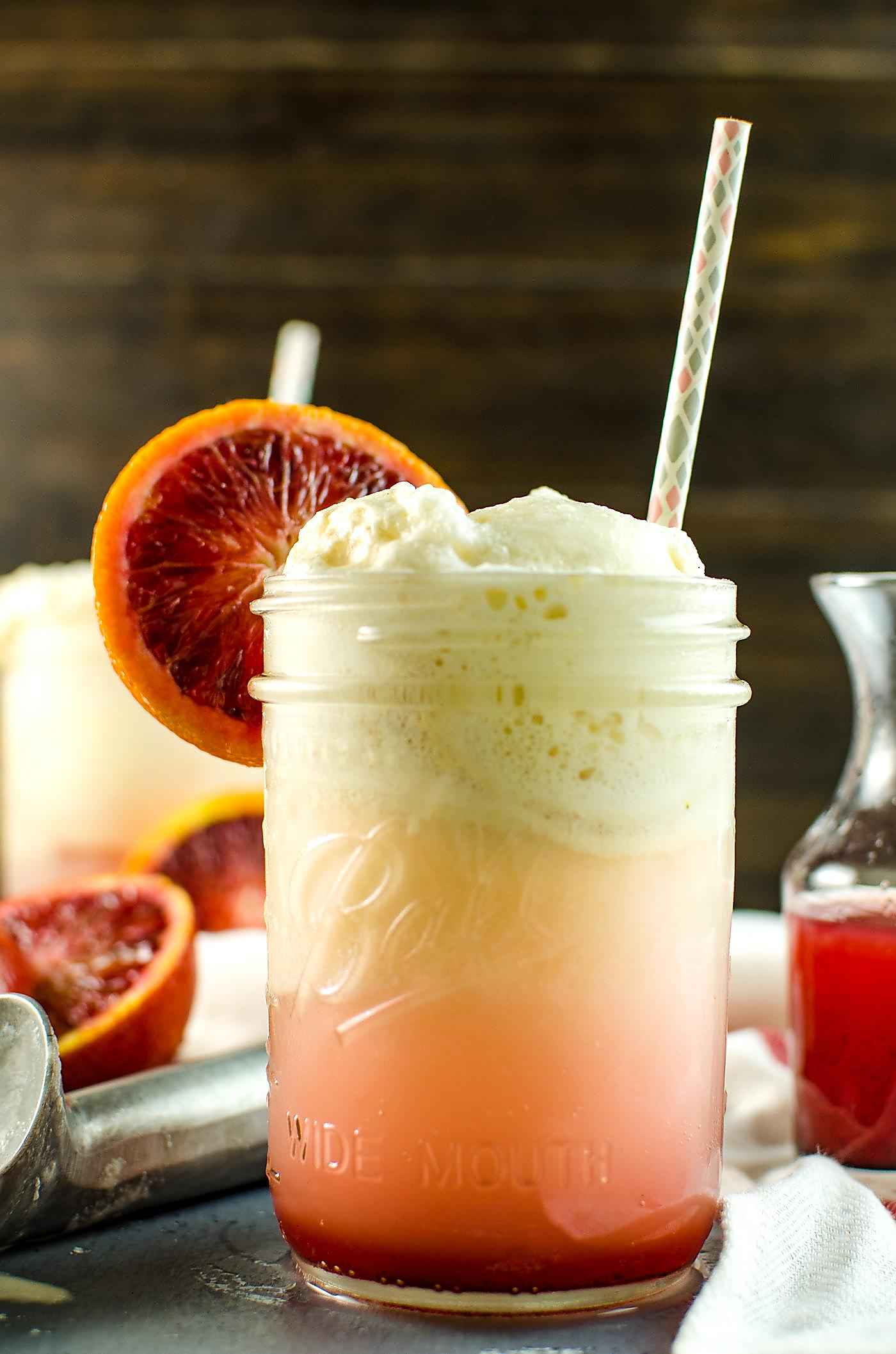 Blood Orange Creamsicle Soda Float - Creamy, citrusy, sweet ...