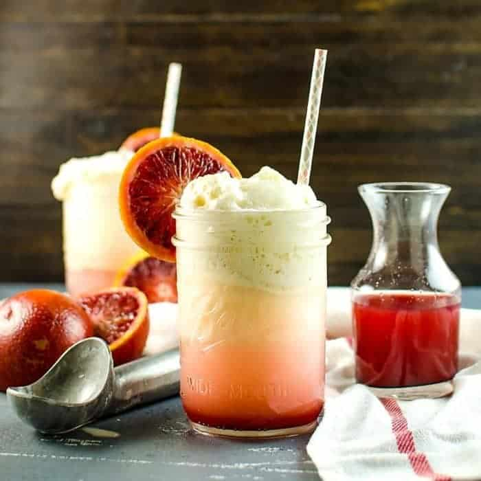 Blood Orange Creamsicle Soda Float