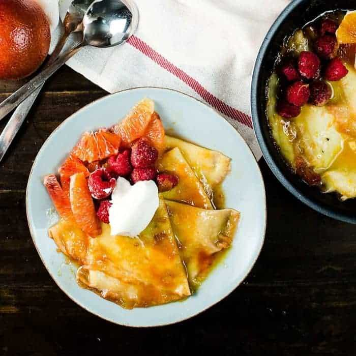 Blood Orange Crepe Suzette For Two