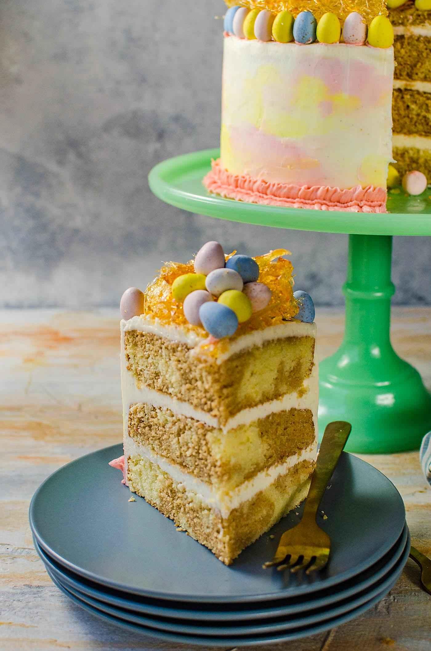 Chai and Vanilla Cake with Vanilla Buttercream (Pastel Easter Cake ...