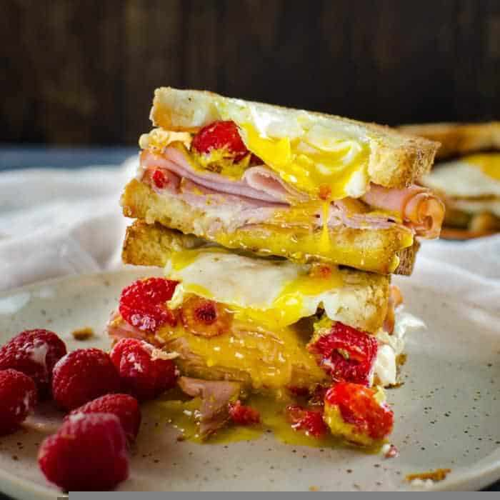 Raspberry Ham and Egg Sandwich