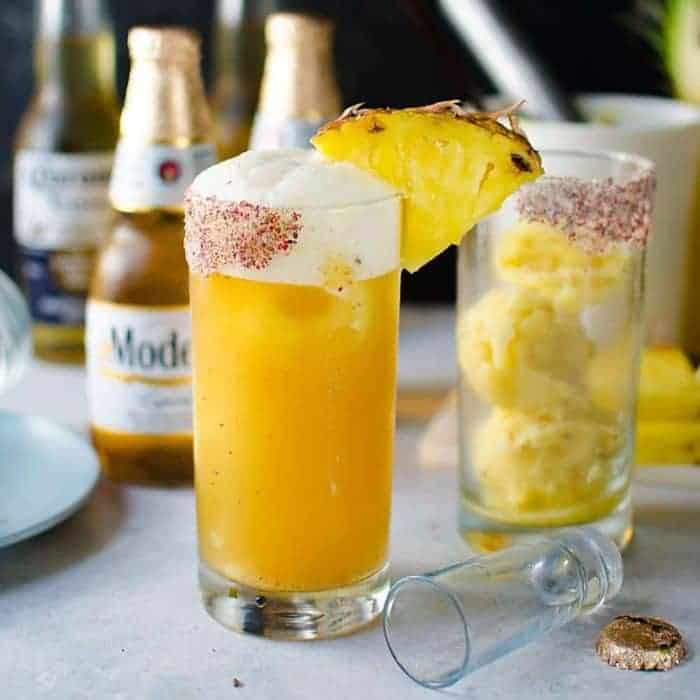 Frozen Pink peppercorn Pineapple Margarita Shandy