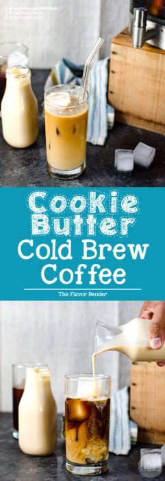 Cookie Butter Cold Brew Coffee - A creamy and delicious way to flavor your Cold brew coffee this summer! It's the perfect iced coffee!