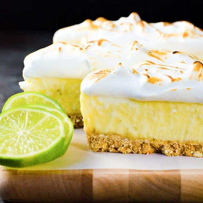 Creamy Frozen Margarita Pie Slice with a Pretzel Crust