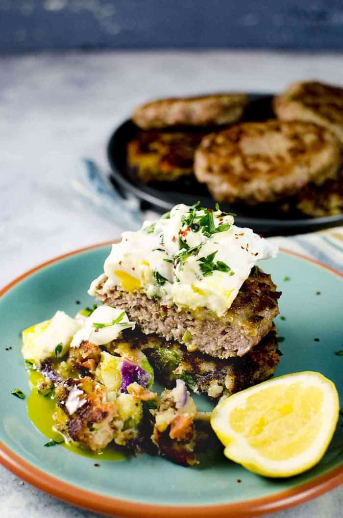 Bubble and Squeak - A wonderful and flexible recipe! You can make it from scratch OR it's a fantastic way to use up leftovers. It's colorful, fluffy, creamy and so so good. Perfect for breakfast or brunch!