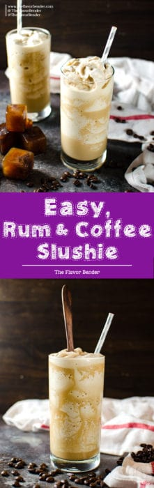 Rum Coffee Slushie - Learn how to make coffee slushies, with tips on making perfect coffee slushies, and how to customize it for you! I love making mine a boozy coffee slushie, with the perfect amount of rum!