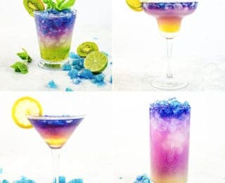Magical Color Changing Cocktails (Galaxy Cocktails) - Four incredible Magical Cocktails to make and be inspired to make your own! Wow your friends and family with these fun and unique cocktails made with color changing alcohol.
