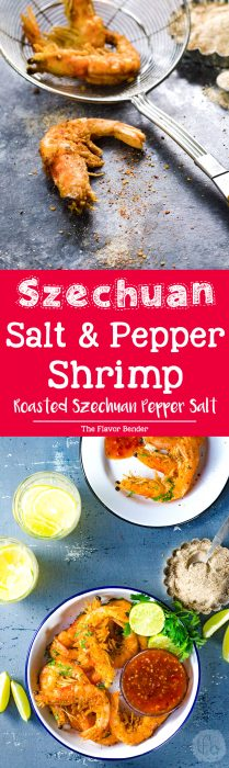 Szechuan Salt and Pepper Shrimp - Crispy and crunchy on the outside, soft and juicy on the inside, these are packed with flavor, and a little kick from the roasted szechuan pepper salt!