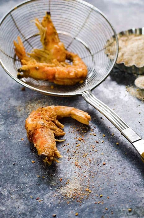 Learn how to clean Shrimp, so you can make amazing recipes like this Szechuan Salt and Pepper Shrimp