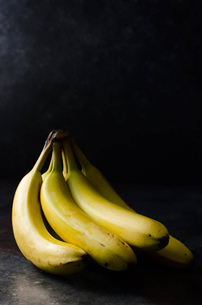 Don't use bananas that are too ripe, as they will become too mushy after being baked.