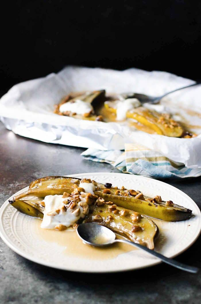 Easy Brown Butter Baked Bananas Foster The Flavor Bender