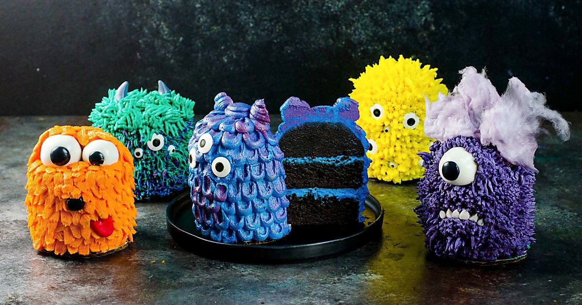 Mini Monster Cakes Step By Step Decorating Tutorial