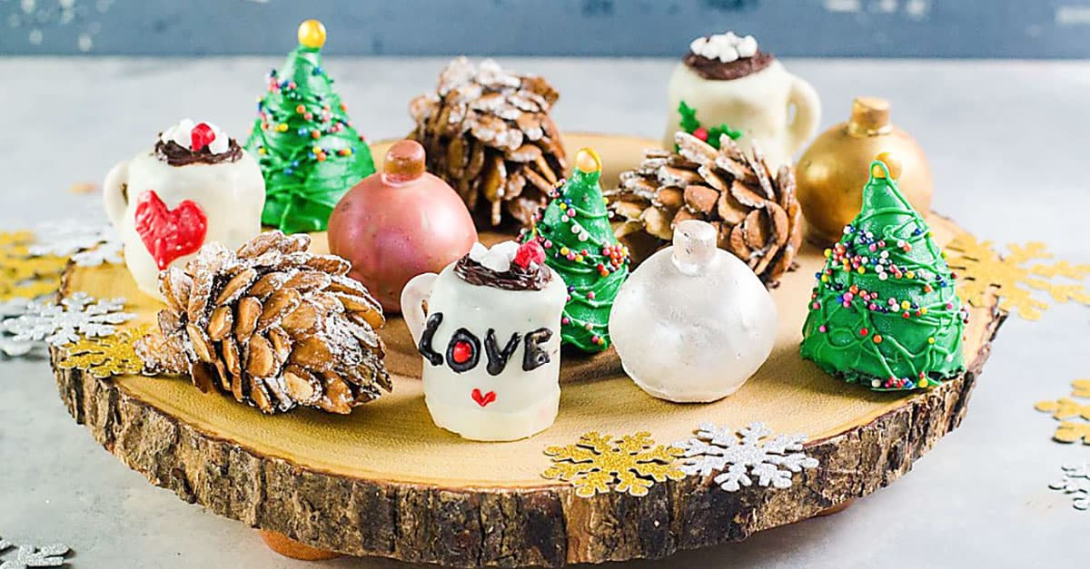 Christmas Oreo Cookie Balls Decorating Tutorial The Flavor Bender