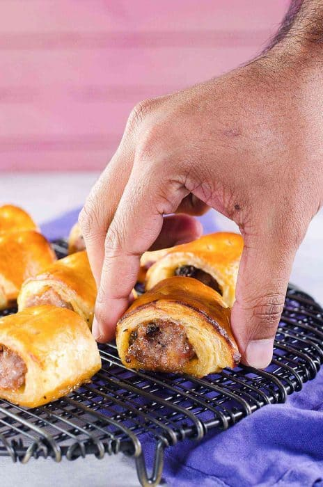 Easy Sausage Rolls with just 3 ingredients - You can customize these sausage rolls easily with your favorite flavor pairings, and they can be made ahead of time and frozen for later too. Easy pork sausage rolls that are perfect for holiday entertaining, as an appetizer or as a brunch or lunch snack!