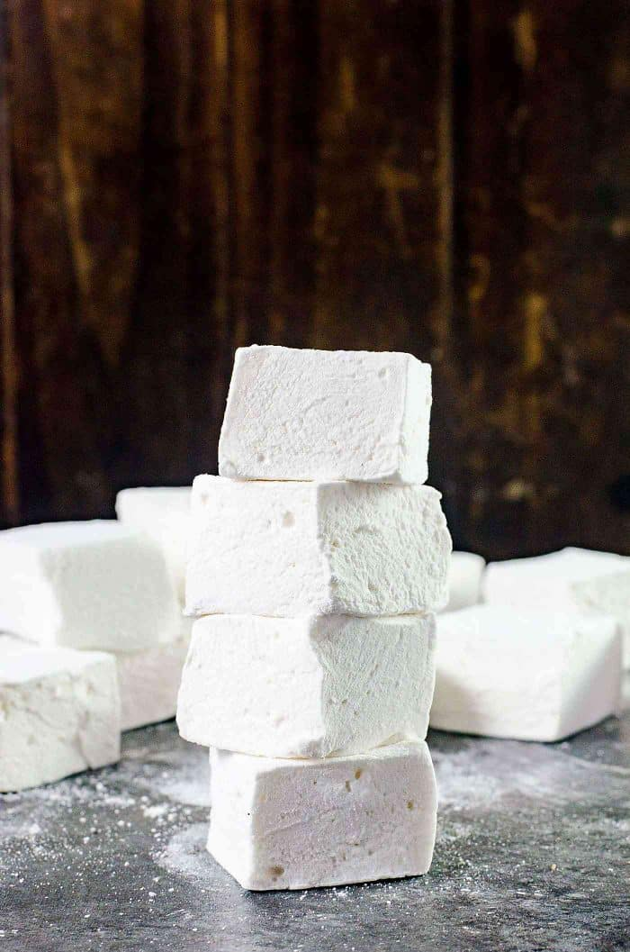 Stacked perfect marshmallows