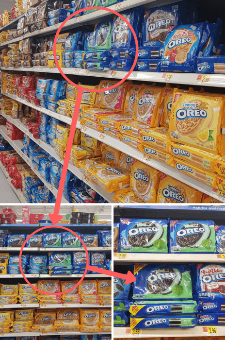 Where to find OREO cookies!