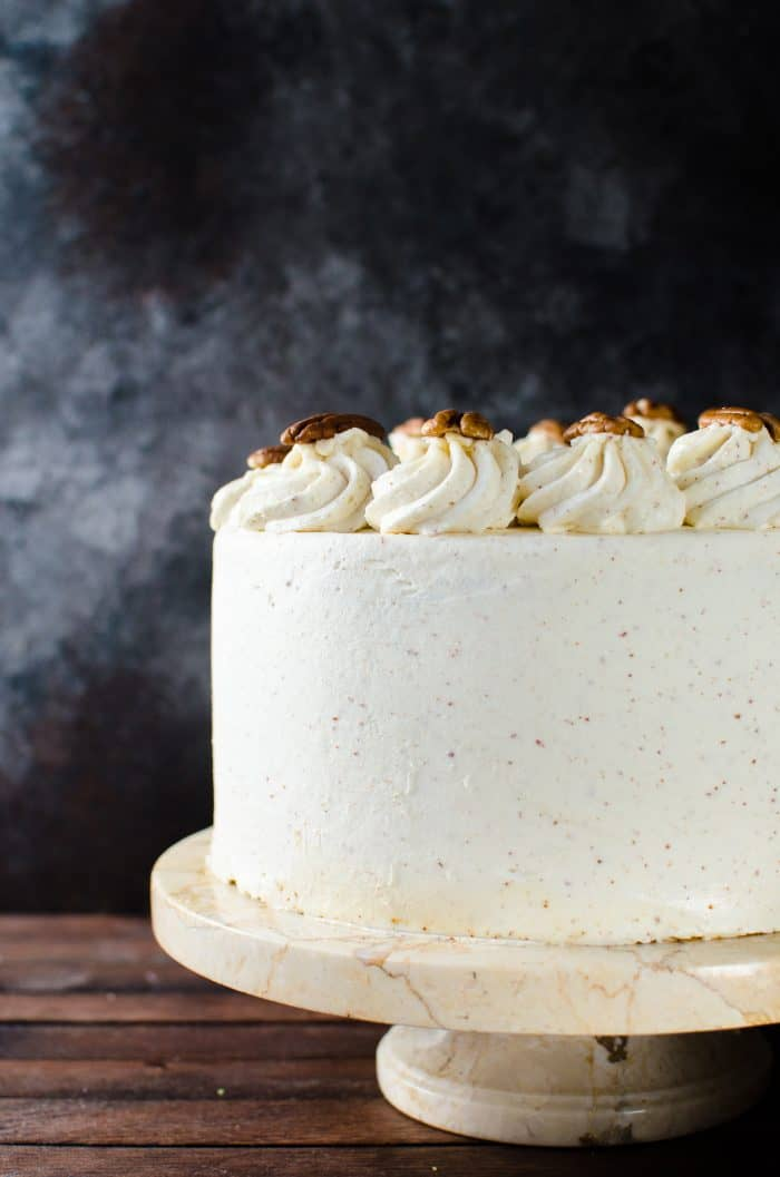 Bourbon Butter Pecan Cake with Maple Frosting | The Flavor ...