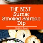 Sumac Smoked Salmon Dip - The BEST smoked salmon dip ever! Easy recipe and better than store bought because you can actually taste the smoked salmon! Plus, it's a perfect appetizer and spread for morning bagels!