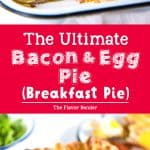 Ultimate Bacon and egg pies (breakfast pies) are a New Zealand classic with smokey bacon and eggs, leeks, cheese and flaky puff pastry! Perfect for breakfast, brunch or even as breakfast for dinner!