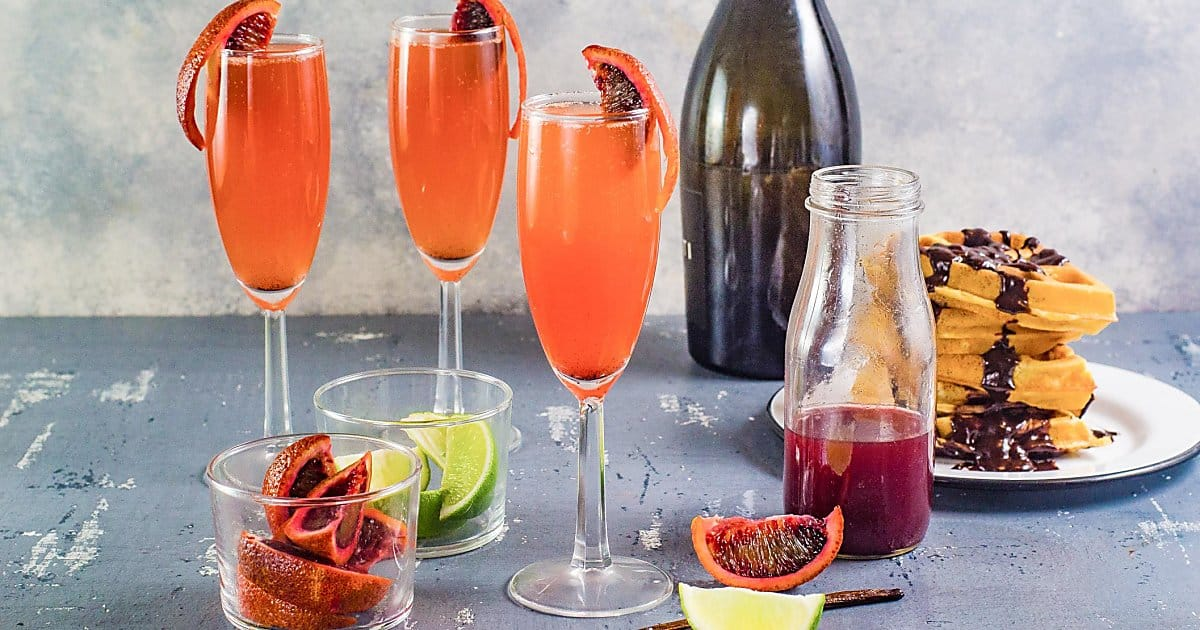 Gin and Blood Orange Mimosa | The Flavor Bender