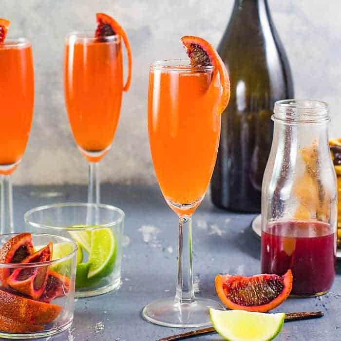 Gin and Blood Orange Mimosa