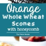 Orange Whole Wheat Scones -Nutty, fragrant and delicious with a soft and tender crumb. Flavored with orange zest, orange blossom water and honey and perfect for breakfast.