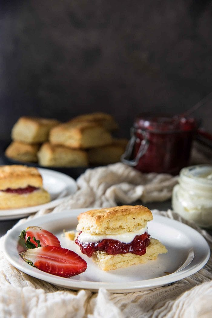 The Best Classic Cream Scones recipe - Step by step recipe with tips on how to make perfect flaky, buttery cream scones, that are so addictive! Easy to make and delicious.