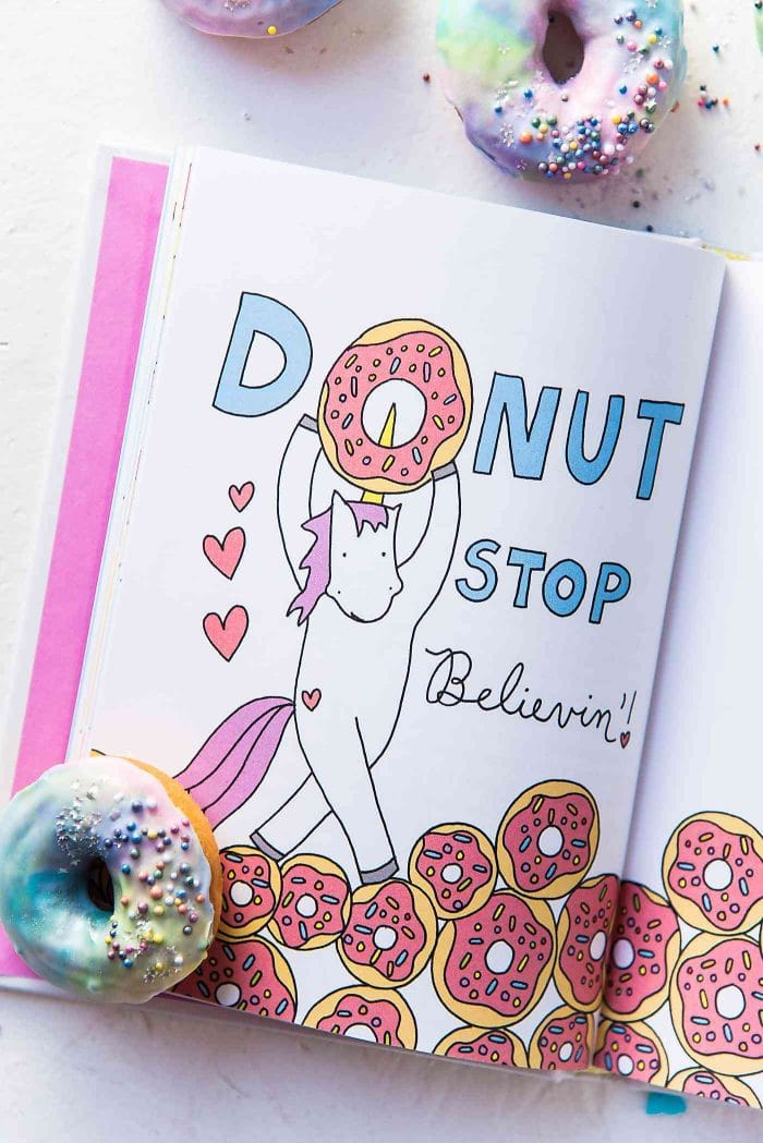 DONUT stop believing! Stuff Unicorns Love by Jessie Oleson Moore.