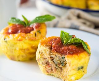 Pizza Egg Muffins - These make ahead breakfast egg muffins are packed with flavor, and perfect for breakfast. Freezer friendly too.