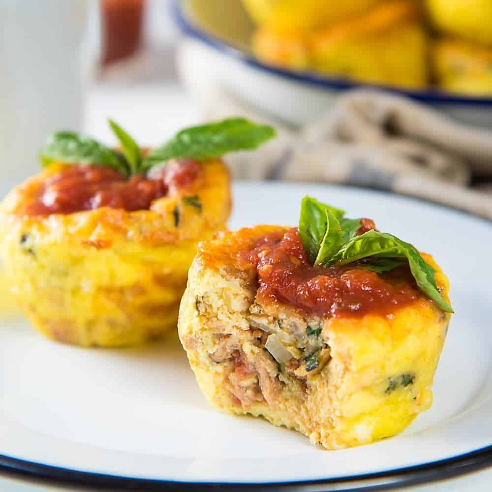 Egg muffin pizza recipe