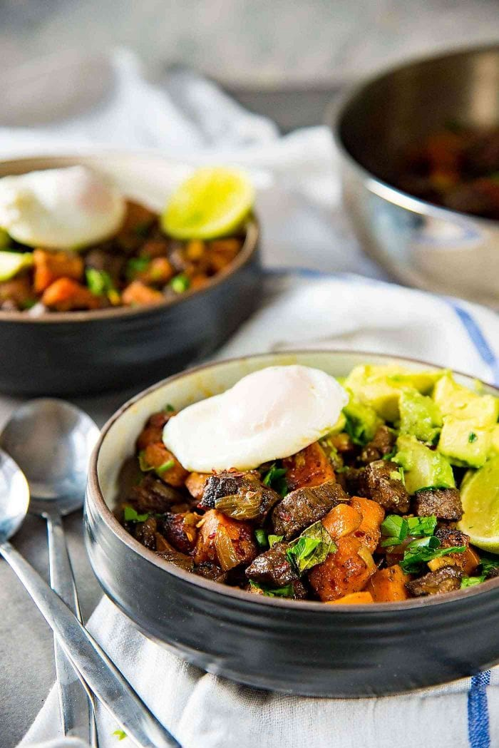 Steak and Sweet Potato Hash - A wholesome, and nutritious breakfast or brunch. Paleo and Whole30 approved too.