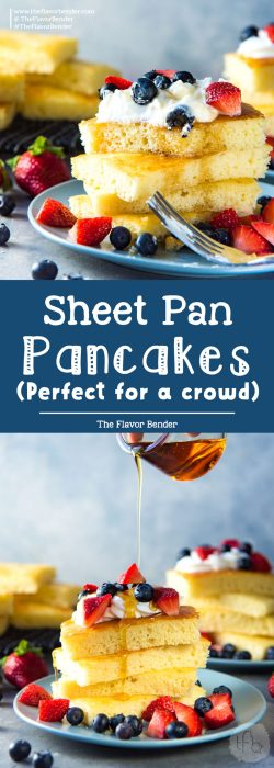 Fluffy & Soft Sheet Pan Pancakes (Oven Baked Pancakes) - The