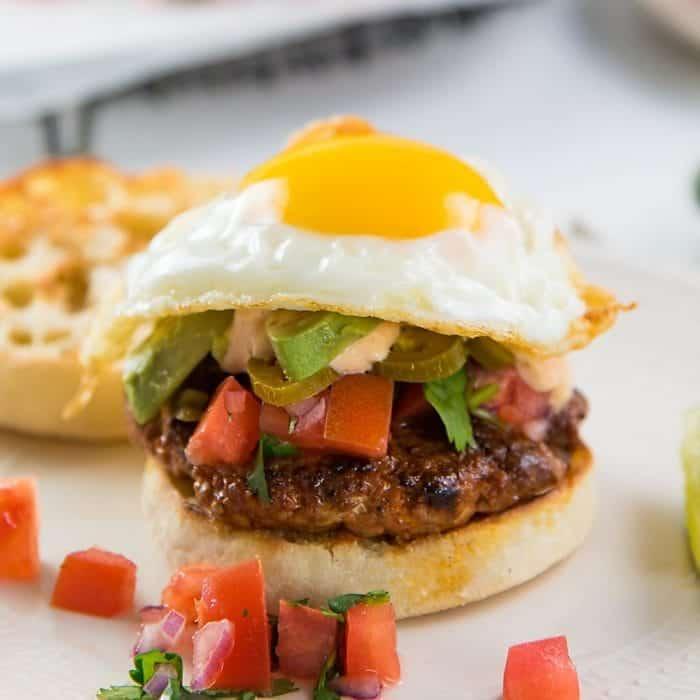 Breakfast Chorizo Burgers