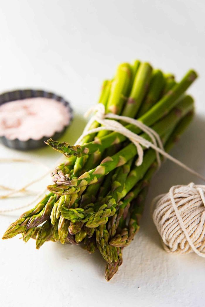 Serve the Buttery Lemon Slow Roasted Salmon with Lemon Butter Sauce with pan fried Asparagus.