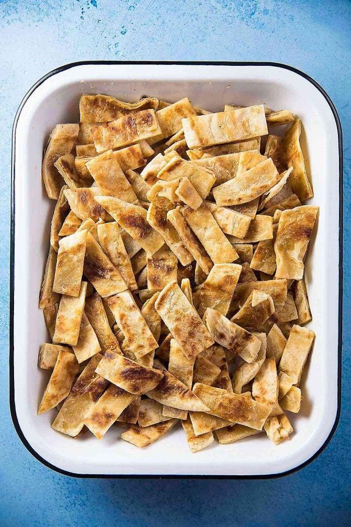 Sri Lankan Chicken Kottu roti - Chopped Godhambara Roti or Paratha Roti or Roti Canai, ready to be used.
