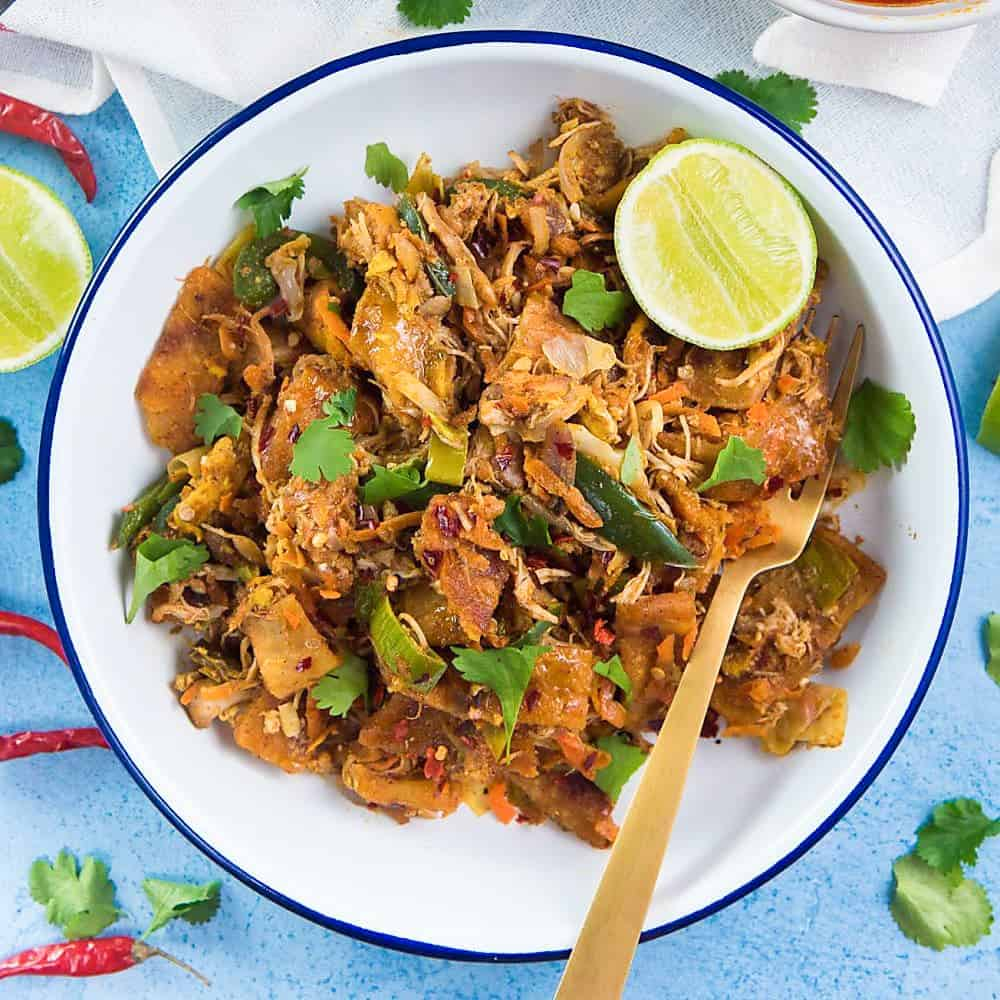Sri Lankan Chicken Kottu Roti Chicken Koththu Roti
