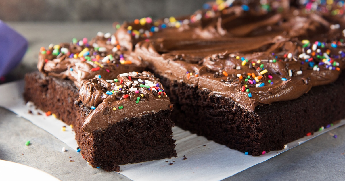The Fudgiest One Bowl Chocolate Cake with Chocolate Buttercream