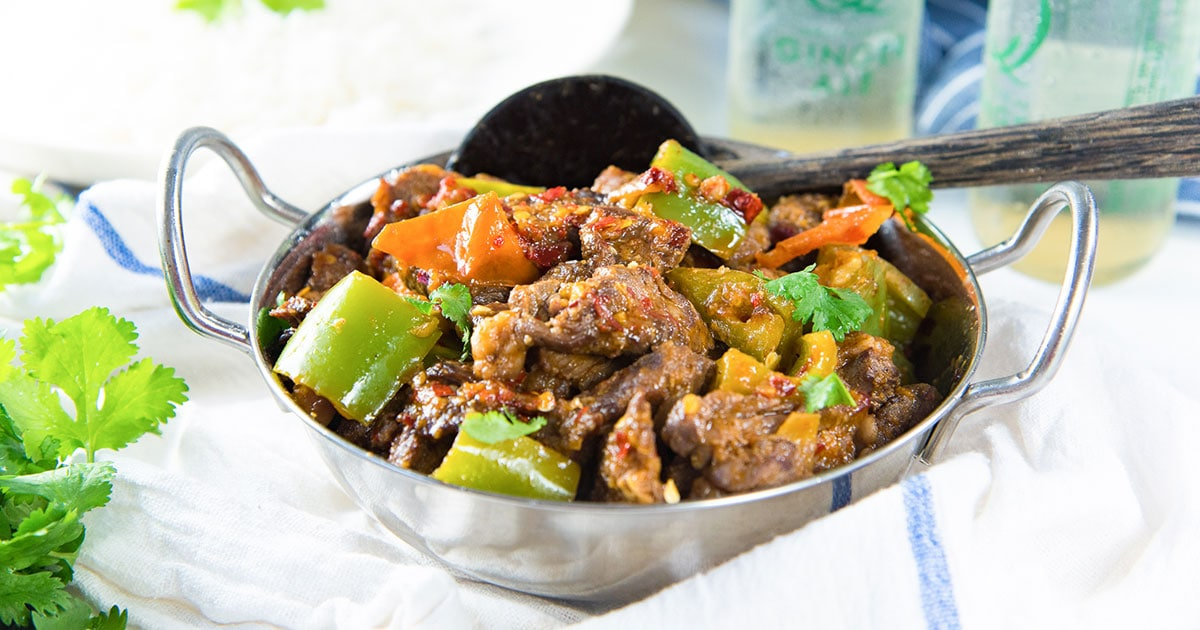 Sri Lankan Devilled Beef Spicy Dry Beef Curry The Flavor