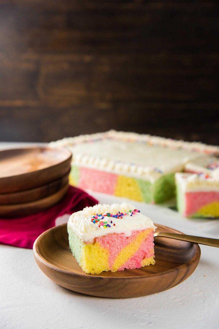 Swirled Pastel Cake Sri Lankan Ribbon