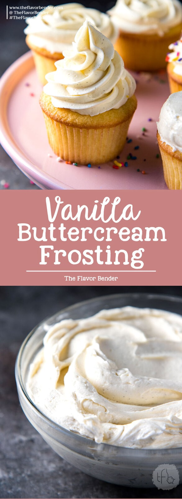 Perfect Vanilla Buttercream Frosting - creamy, fluffy, sweet, buttery, melt in your mouth frosting that is perfect to slather on anything.  #VanillaButtercreamFrosting #VanillaFrosting #Cake