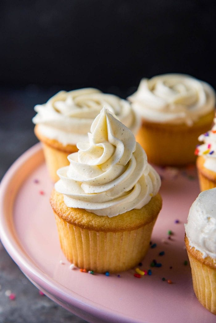 Perfect Vanilla Buttercream Frosting - Perfect vanilla frosting for cakes or cupcakes.