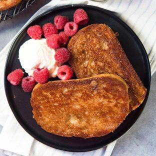 The Best Cinnamon Toast Ever! (Creme Brulee Toast)