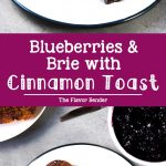Roasted Blueberries and Brie with Cinnamon Toast - A simple, yet fancy, versatile dessert of brunch. Buttery, crunchy, sweet, salty cinnamon toast topped with a fruity blueberry compote and creamy brie.